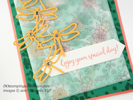 Stampin' Up! Dragonfly Dreams Bundle and Sale-a-Bration Inside the Lines DSP shared by Dawn Olchefske #dostamping