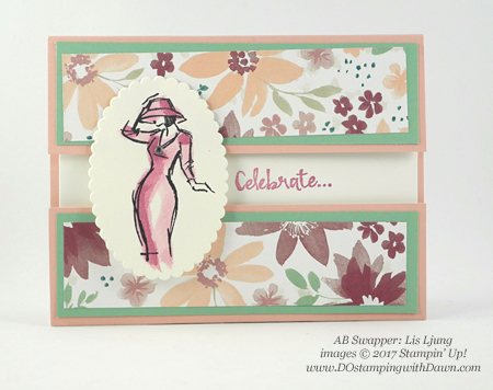 Stampin' Up! Beautiful You swap cards shared by Dawn Olchefske #dostamping (Liz Ljung)