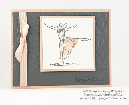 Stampin' Up! Beautiful You swap cards shared by Dawn Olchefske #dostamping(Betty Weisbrich)