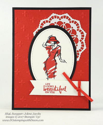 Stampin' Up! Beautiful You swap cards shared by Dawn Olchefske #dostamping (Jolene Jacobs)