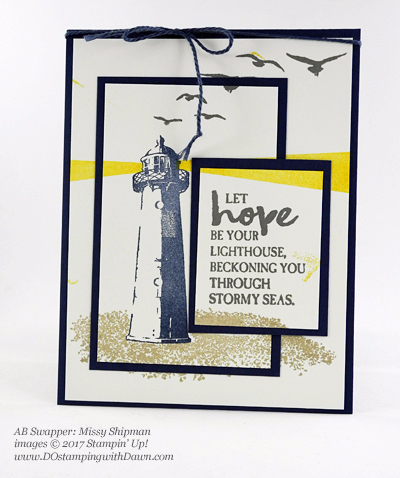 Stampin' Up! High Tide stamp set swap cards shared by Dawn Olchefske #dostamping (Missy Shipman)