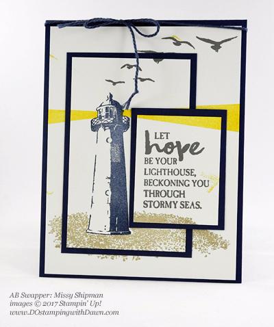 Stampin' Up! High Tide stamp set swap cards shared by Dawn Olchefske #dostamping (Missy Shipman)