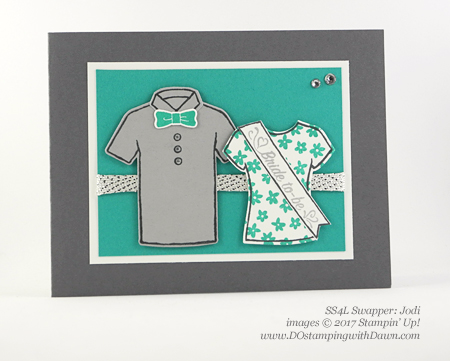 Stampin' Up! Custom Tee card shared by Dawn Olchefske #dostamping (Jodi)