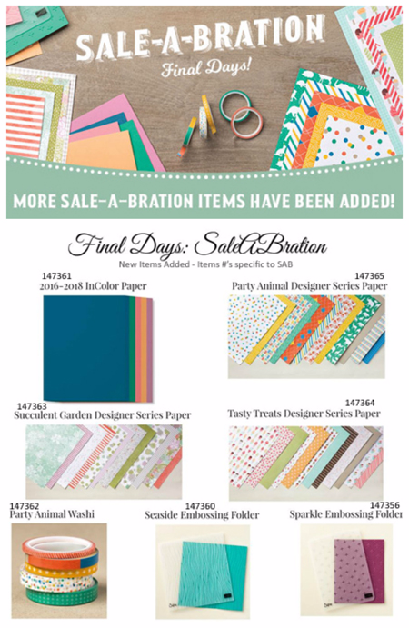 New items added to Sale-a-Bration ending March 31st, Shop with Dawn O #dostamping