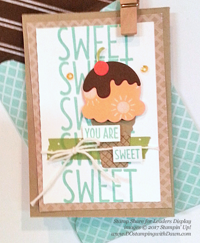 Stampin' Up! Cool Treats Bundle & Suite swap cards shared by Dawn Olchefske #dostamping