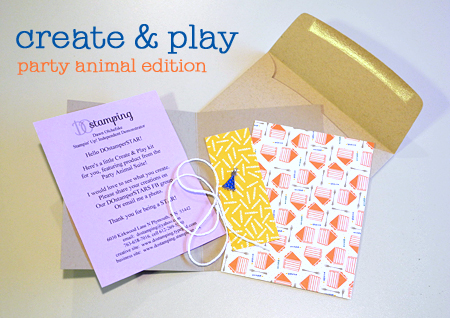Stampin' Up! Party Animal Create & Play Kit for DOstamperSTARS shared by Dawn Olchefske #dostamping