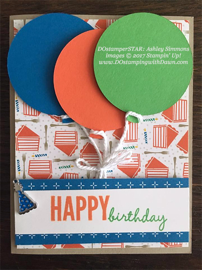 Stampin' Up! Party Animal Create & Play Kit for DOstamperSTARS shared by Dawn Olchefske #dostamping (Ashley Simmons)