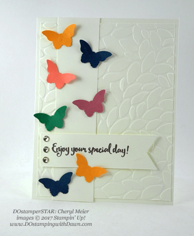 Stampin' Up! DOstamper STARS Friday Feature swap cards shared by Dawn Olchefske #dostamping (Cheryl Mier)