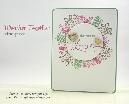 Stampin' Up! Weather Together cardshared by Dawn Olchefske #dostamping