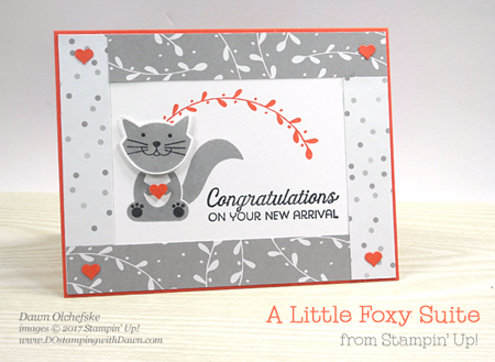 Stampin' Up! A Little Foxy suite card created by Dawn Olchefske for DOstamperSTARS Thursday Challenge #DSC227 #dostamping