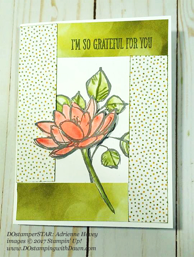 Stampin' Up! Remarkable You card shared by Dawn Olchefske #dostamping (DOstamperSTAR: Adrienne Hovey)