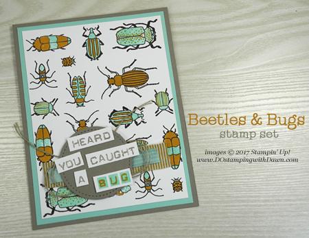 Stampin' Up! Beetles & Bugs stamp set shared by Dawn Olchefske #dostamping
