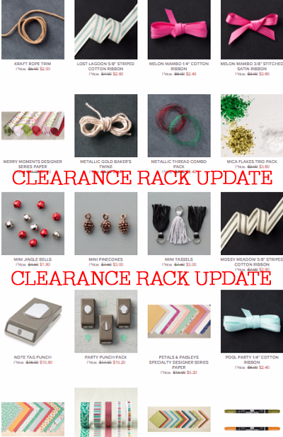 April 2017 Clearance Rack items added!  Shop with Dawn Olchefske #dostamping
