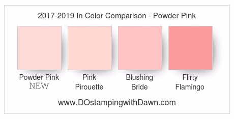 New Powder Pink 2017-19 In Color by Stampin' Up! #dostamping