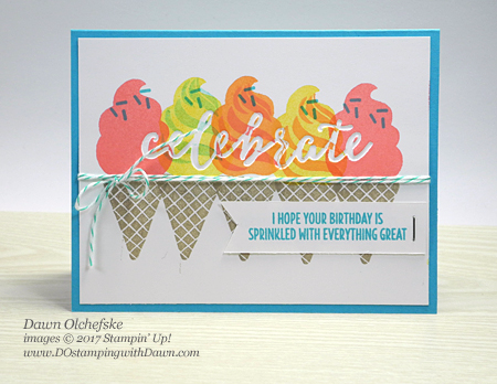 Stampin' Up! Cool Treats & Celebrations Duo Folder created by Dawn Olchefske for DOstamperSTARS Thursday Challenge #DSC229 #dostamping
