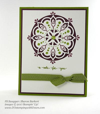 Stampin' Up! Eastern Palace Bundleswap cards shared by Dawn Olchefske #dostamping (Sharon Burkert)