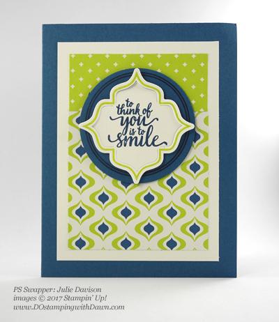 Stampin' Up! Eastern Palace Bundleswap cards shared by Dawn Olchefske #dostamping (Julie Davison)