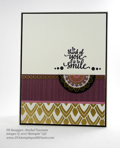 Stampin' Up! Eastern Palace Bundle swap cards shared by Dawn Olchefske #dostamping (Rachel Tessman)