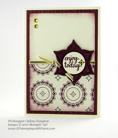 Stampin' Up! Eastern Palace Bundle swap cards shared by Dawn Olchefske #dostamping (Selene Kempton)