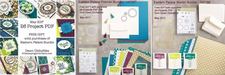 Get an Eastern Palace Bundle with Dawn Olchefske and receive FREE Gift of 26-project PDF #dostamping