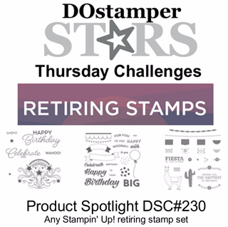 DOSstamperSTARS Thursday Challenge #230-Product Spotlight