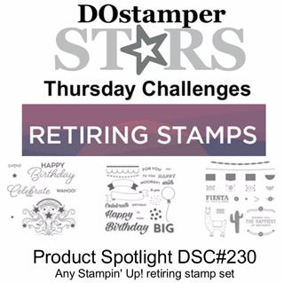 DOSstamperSTARS Thursday Challenge #230-Product Spotlight