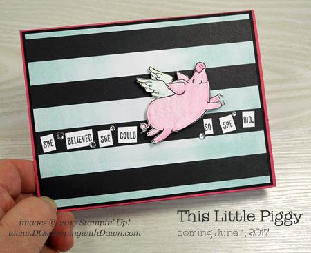 Stampin' Up! This Little Piggy stamp set card sharedby Dawn Olchefske #dostamping