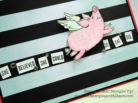 Stampin' Up! This Little Piggy stamp set card shared by Dawn Olchefske #dostamping