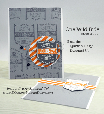 Stampin' Up! One Wild Ride card shared by Dawn Olchefske #dostamping
