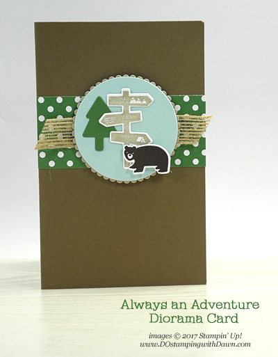 Stampin' Up! Always an Adventure card created by Dawn Olchefske for DOstamperSTARS Thursday Challenge #DSC230 #dostamping