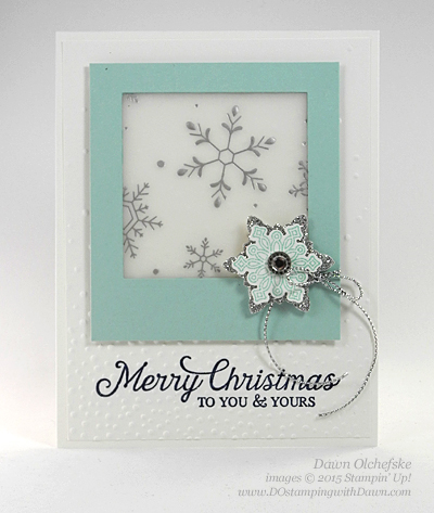 Stampin' Up! Retiring Snow Flurry Punch shared by Dawn Olchefske #dostamping