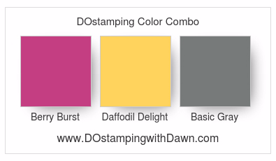 Stampin' Up! Color Combo Berry Burst, Daffodil Delight, Basic Gray #dostamping