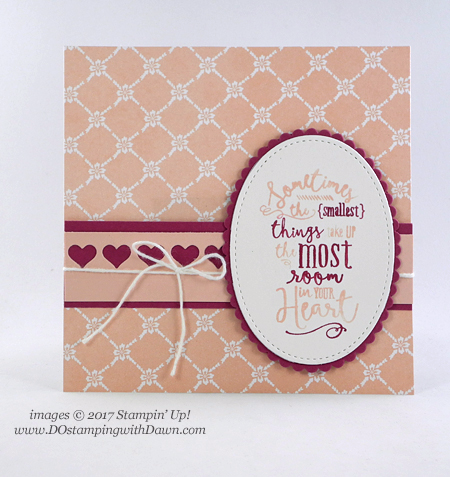 Stampin' Up! new Fresh Florals DSP & returning Layering Love stamp set shared by Dawn Olchefske #dostamping