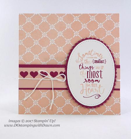 Stampin' Up! new Fresh Florals DSP & returning Layering Love stamp setshared by Dawn Olchefske #dostamping