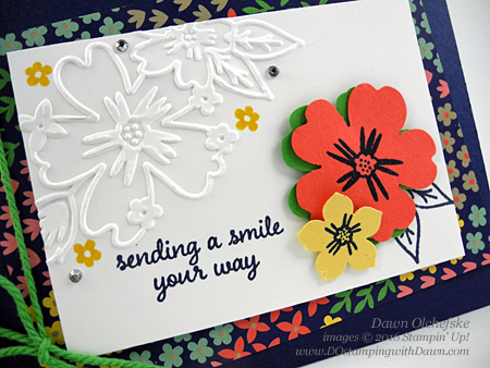 Stampin'Up Retiring Floral Affection Texture Folders card created by Dawn Olchefske #dostamping