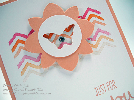 Stampin' Up! Medallion Flower & Bitty Butterfly punches card by Dawn Olchefske for DOstamperSTARS Thursday Challenge #132 #dostamping