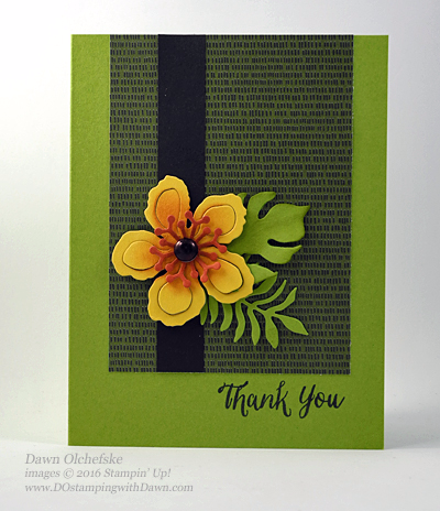 Stampin' Up! Retiring Botanical Builder Framelits card created by Dawn Olchefske  #dostamping