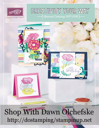 Stampin' Up! 2017-18 Annual Catalog shared by Dawn Olchefske #dostamping