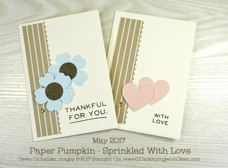 Alternate ideas for Sprinkled With Love Paper Pumpkin Kit May 2017 Refill Kit by Dawn Olchefske #dostamping