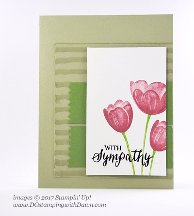 Stampin' Up! Tranquil Tulips (Stampin' Rewards) card shared by Dawn Olchefske #dostamping