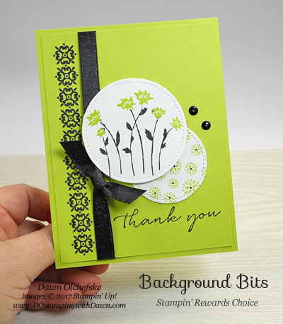 Stampin' Up! Background Bits (host set) card by Dawn Olchefske for DOstamperSTARS Thursday Challenge #DSC235 #dostamping
