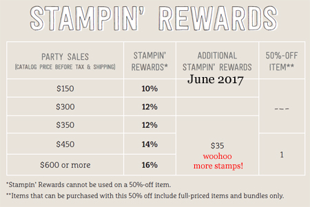 Make your Stampin' Rewards go further with June 2017 We Love Host promotion #dostamping