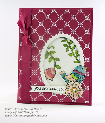 Stampin' Up! Feathered Friends host set shared by Dawn Olchefske #dostamping  (Melissa Davies