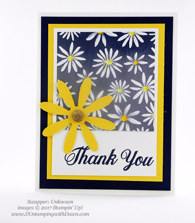 Stampin' Up! Delightful Daisy Bundle swap cards shared by Dawn Olchefske #dostamping