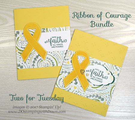 Stampin' Up! Ribbon of Courage Bundle card shared by Dawn Olchefske #dostamping
