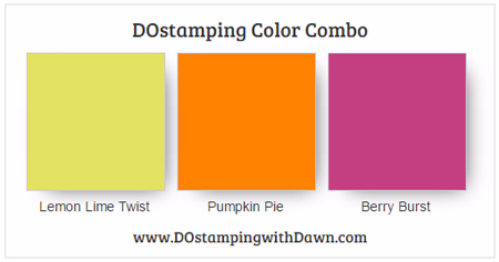 Stampin' Up! Lemon Lime Twist, Pumpkin Pie, Berry Burst #dostamping
