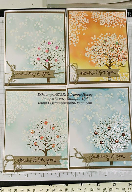 Stampin' Up! Sheltering Tree card shared by Dawn Olchefske #dostamping(Adrienne Hovey)