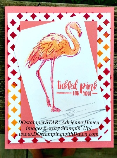 Stampin' Up! Fabulous Flamingo card shared by Dawn Olchefske #dostamping(Adrienne Hovey)