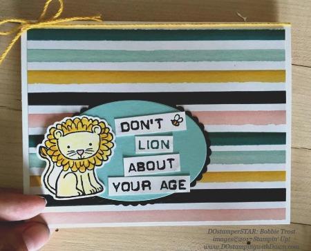 Stampin' Up! A Little Wild card shared by Dawn Olchefske #dostamping(Bobbie Trost)