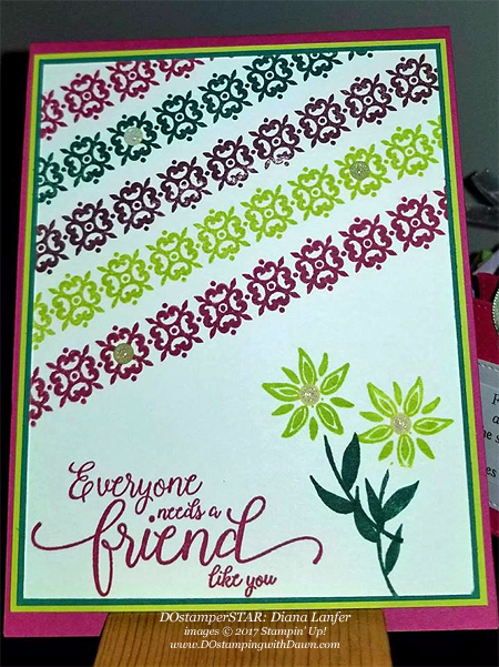 Stampin' Up! Background Bits card shared by Dawn Olchefske #dostamping (Diana Lanfer)